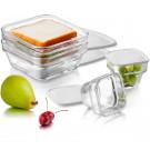 Jogo de Saladeiras Save'n Store Libbey em Vidro 8 Peças