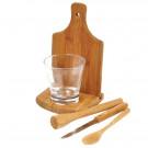 Kit Para Caipirinha em Bambu - 0,35 L - 6 Peças