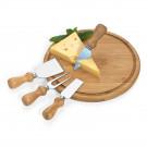 Conjunto para Queijo em Bambu Inox Cordoba 5 Peças Welf 02