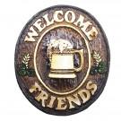 Placa Welcome Friends Chopp