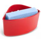Porta Esponja Com Ventosa Vermelho Para Pia Umbra Caddy
