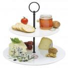 Pratos 2 Andares Lounge Collection Easy Life em Porcelana Branco