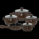 Conjunto de Panelas de Cerâmica Ceraflame Premiere Joy 5 Peças Chocolate