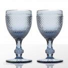 Taça de Vinho Bico de Jaca Azul