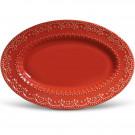 Travessa Cerâmica Vermelha Esparta Porto Brasil 44cm