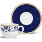 Xícara de Chá Com Pires Classic Blue Porto Brasil 6 Lugares 197ml