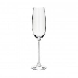 Conjunto 6 Taças de Cristal Ecologico para Champagne Twiggy Flute Bohemia