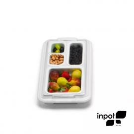 Organizador de Alimentos Inpot Branco 2P1M1G