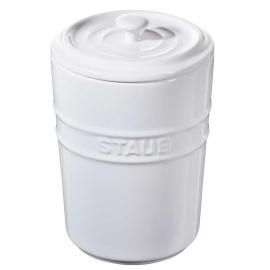 Porta Mantimentos Staub 1000 ml Branco Cerâmica