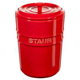 Porta Mantimentos Staub 1000 ml Cereja Cerâmica