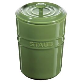 Porta Mantimentos Staub 1000 ml Verde Brasil Cerâmica