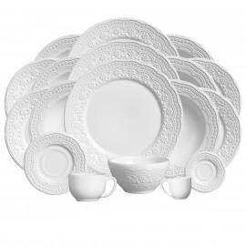 Aparelho de Jantar Madeleine Porto Brasil em Cerâmica Branca