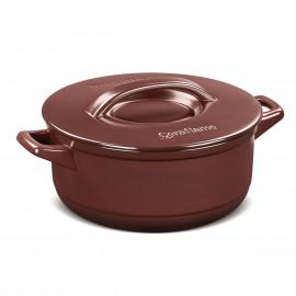 Panela Caçarola Ceraflame Duo+ em Cerâmica Marrom Chocolate 18cm 1,5 Litro