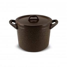 Caçarola de Cerâmica Ceraflame Martelada Chocolate Alta 24cm 7500ml