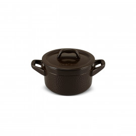 Caçarola de Cerâmica Ceraflame Martelada Chocolate 16cm 1500ml