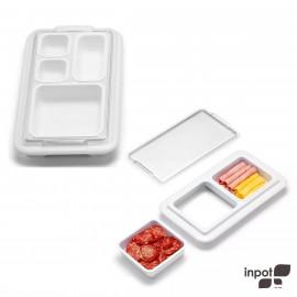 Conjunto Organizador de Alimentos Inpot Branco 2 Peças