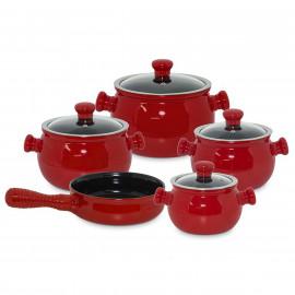 Conjunto de Panelas de Cerâmica Vermelha Ceraflame Premiere 5 Peças Pomodoro