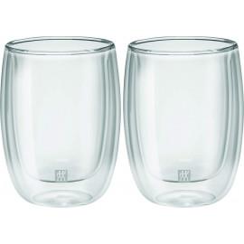 Jogo com 2 copos de vidro de parede dupla para Cappucino 200 ml ZWILLING Sorrento