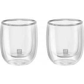 Jogo com 2 copos de vidro de parede dupla para Espresso, 80 ml, ZWILLING Sorrento