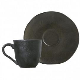 Xícaras de Café e Pires  Orgânico Copper Porto Brasil 6 Peças