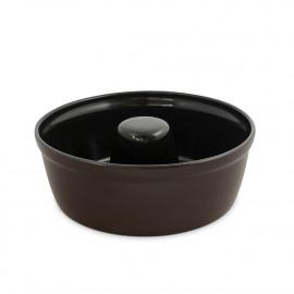 Forma de Cerâmica Para Bolo Ceraflame 23cm 1,8 Litros Chocolate