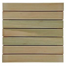 Deck de Madeira Maciça 50x50cm 7 Lamelas Mades