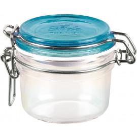 Pote de Vidro Hermético Fido Terrina Tampa Azul Bormioli Rocco 125 ml