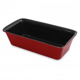 Forma de Cerâmica Para Pão Ceraflame 25x13cm 2 Litros Pomodoro Vermelha