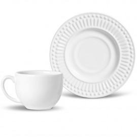 Jogo de Xícaras para Chá Roma Porto Brasil Branco 6 Lugares