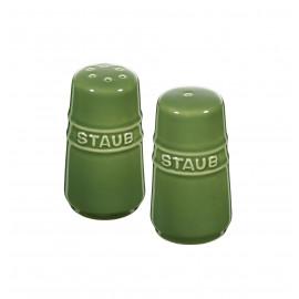 Mini Saleiro e Pimenteiro 7cm Verde Basil Staub