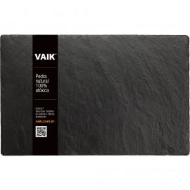 Pedra Natural Ardósia Negra Para Servir Queijos e Aperitivos VAIK ® Roccia 40x25cm