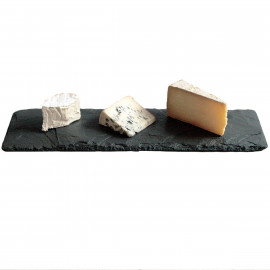 Pedra Natural Para Servir Queijos e Aperitivos VAIK ® Roccia 35x10cm