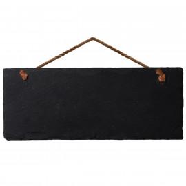 Placa de Avisos em Pedra Ardósia Negra VAIK ® Roccia 30X10cm