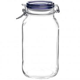 Pote de Vidro Hermético Fido Tampa Azul Bormioli Rocco 1,5 Litro