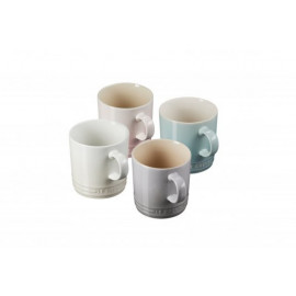 Set 4 Canecas Chá Calm Collection com Branco Meringue 350 ml Le Creuset