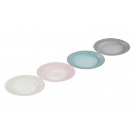 Set 4 Pratos Aperitivo Calm Collection com Branco Meringue Le Creuset
