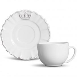 Xícara de Chá com Píres Windsor Porto Brasil Provençal Branco 6 Lugares
