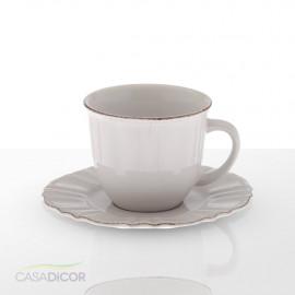 Xícara de Café com Píres Provençal Branco Renda 85ml