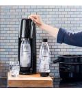 Máquina de Bebida Fizzi + Dióxido de Carbono Soda Stream Preta