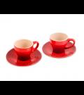 Jogo de 2 xícaras com Pires Vermelho Le Creuset