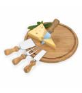 Conjunto para Queijo em Bambu Inox Cordoba 5 Peças Welf