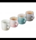 Set 4 Canecas Espresso Calm Collection com Branco Meringue Le Creuset