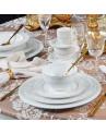 Aparelho de Jantar Damask Flat Porto Brasil em Cerâmica Branca