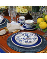 Prato Raso Classic Blue Porto Brasil 6 Peças
