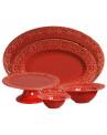 Tigela Grande Vermelha Esparta Porto Brasil 30cm