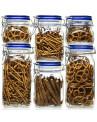 Conjunto de Potes de Cozinha Herméticos Italianos Fido Bormioli Rocco Tampa Azul