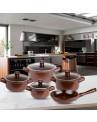 Panelas de Cerâmica Ceraflame Duo Marrom Chocolate