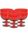Taça de Sorvete Vermelha Country em Vidro 380ml