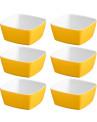Jogo de Tigelas Quadradas 10 x 10cm Amarelo
