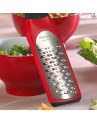 Lâmina Inox do Ralador Tiras Médias Microplane Artisan Vermelho 26x6,5cm